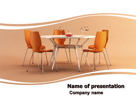 Dining Room Free PowerPoint Template, 05545, Careers/Industry — PoweredTemplate.com