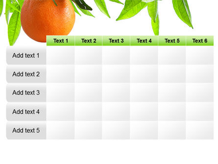 Orange Tree PowerPoint Template Slide 15