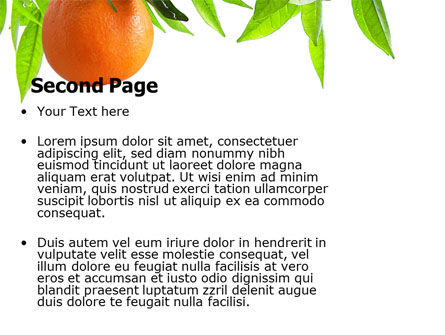 Orange Tree PowerPoint Template, Slide 2, 05547, Agriculture — PoweredTemplate.com