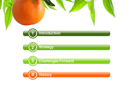Orange Tree PowerPoint Template, Slide 3, 05547, Agriculture — PoweredTemplate.com