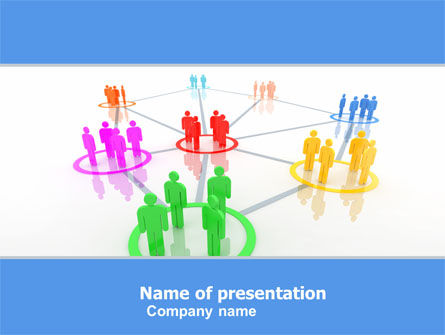 social network communication powerpoint template, backgrounds, Modern powerpoint