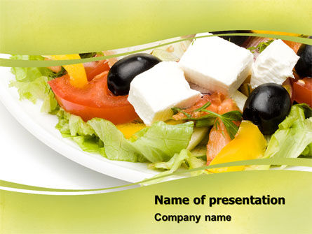 Greek Salad PowerPoint Template, 05549, Food & Beverage — PoweredTemplate.com