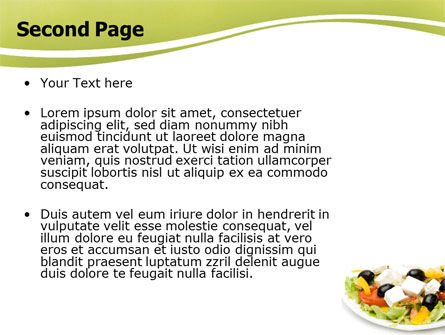 Greek Salad PowerPoint Template Slide 2