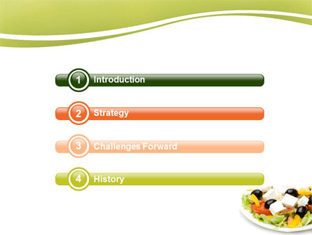 Greek Salad PowerPoint Template, Slide 3, 05549, Food & Beverage — PoweredTemplate.com