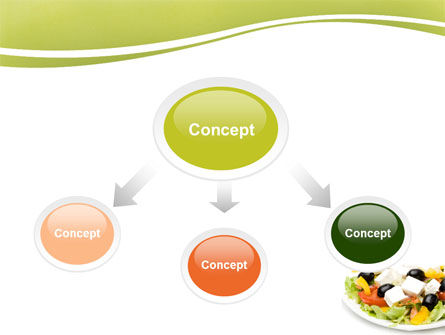 Greek Salad PowerPoint Template, Slide 4, 05549, Food & Beverage — PoweredTemplate.com
