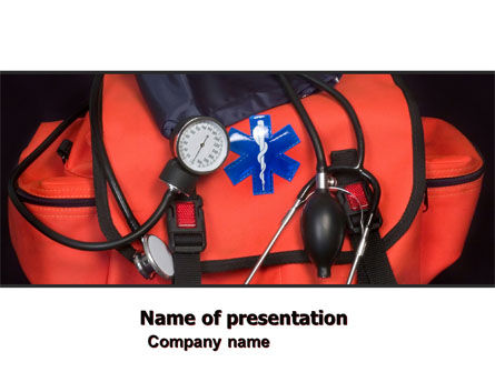 Medical: Ambulance Kit PowerPoint Template #05551