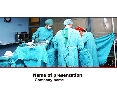 Medical: Procedure In Operating Room PowerPoint Template #05552