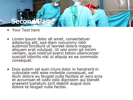 Procedure In Operating Room PowerPoint Template, Slide 2, 05552, Medical — PoweredTemplate.com