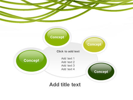 Green Fibers PowerPoint Template Slide 16