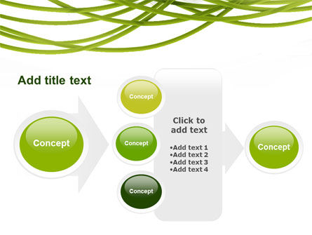 Green Fibers PowerPoint Template Slide 17