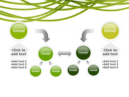 Green Fibers PowerPoint Template Slide 19