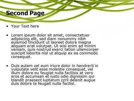 Green Fibers PowerPoint Template Slide 2