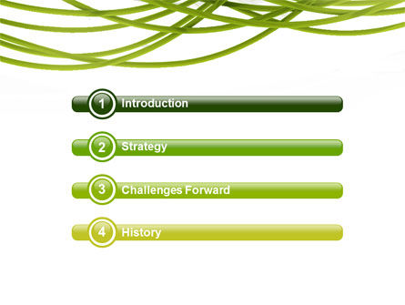 Green Fibers PowerPoint Template Slide 3