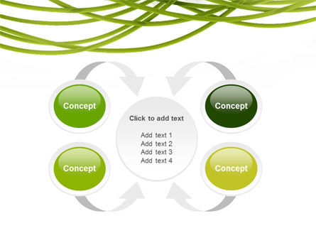 Green Fibers PowerPoint Template Slide 6