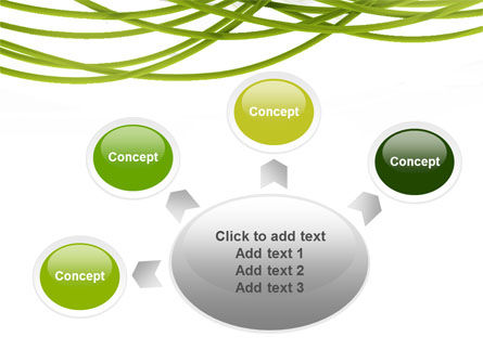 Green Fibers PowerPoint Template Slide 7