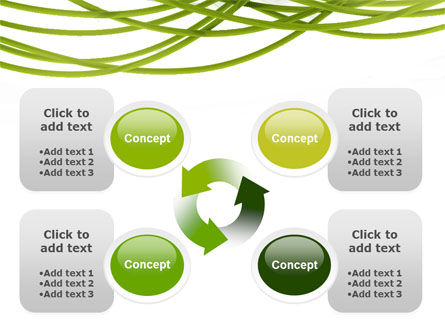 Green Fibers PowerPoint Template Slide 9