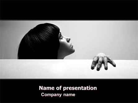 People: Afraid PowerPoint Template #05555