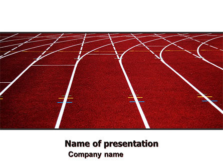 Racetrack PowerPoint Template, 05557, Sports — PoweredTemplate.com