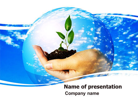 Save World PowerPoint Template, 05558, Nature & Environment — PoweredTemplate.com