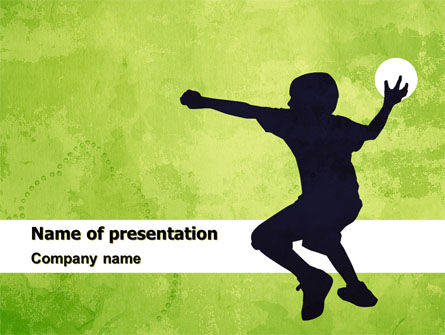 Sports: Playing Ball PowerPoint Template #05559