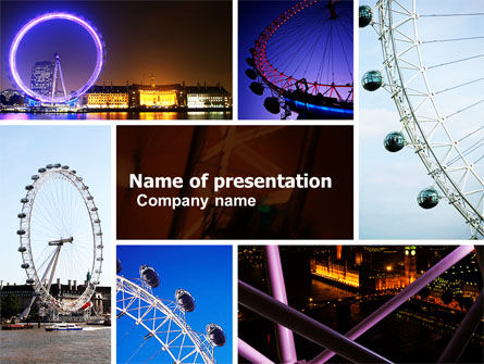 Millennium Wheel PowerPoint Template
