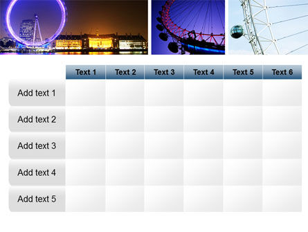 Millennium Wheel PowerPoint Template Slide 15