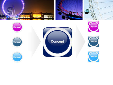 Millennium Wheel PowerPoint Template Slide 17