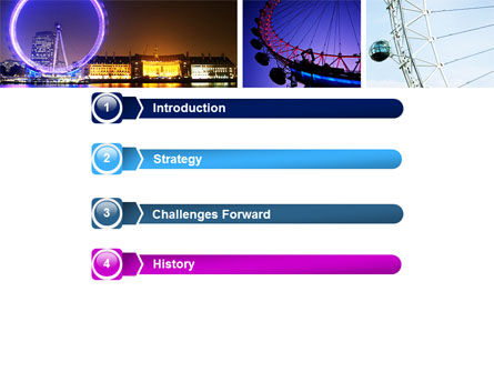Millennium Wheel PowerPoint Template Slide 3
