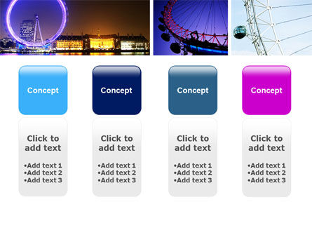 Millennium Wheel PowerPoint Template Slide 5