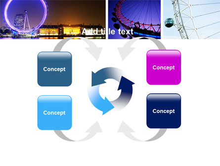 Millennium Wheel PowerPoint Template Slide 6