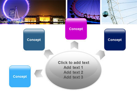 Millennium Wheel PowerPoint Template Slide 7