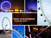 Construction: Millennium Wheel PowerPoint Template #05560