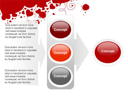 Heart Stains PowerPoint Template Slide 11