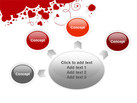 Heart Stains PowerPoint Template Slide 7