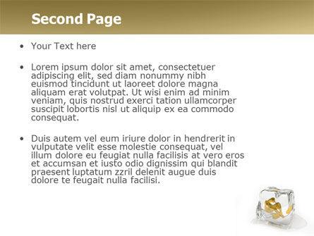 Frozen Dollar PowerPoint Template, Slide 2, 05565, Financial/Accounting — PoweredTemplate.com