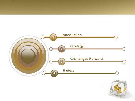 Frozen Dollar PowerPoint Template, Slide 3, 05565, Financial/Accounting — PoweredTemplate.com
