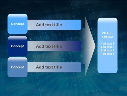 Blue Sparkles PowerPoint Template Slide 12