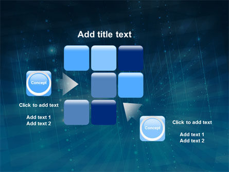 Blue Sparkles PowerPoint Template Slide 16