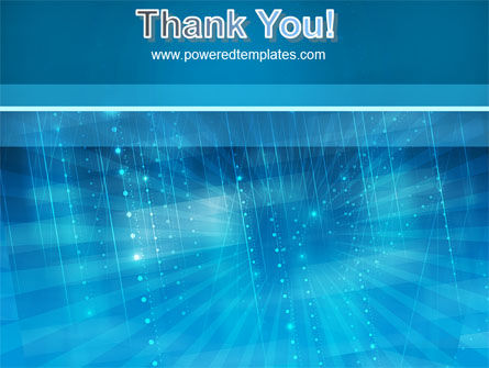 Blue Sparkles PowerPoint Template Slide 20