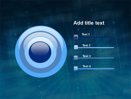 Blue Sparkles PowerPoint Template Slide 9