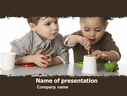 Education & Training: Plasticine PowerPoint Template #05568