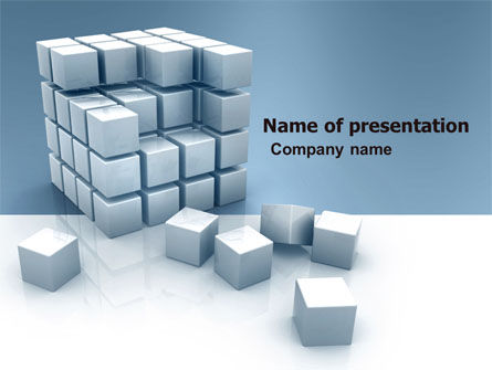 Construction: Cube PowerPoint Template #05571