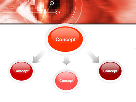 Eye In Red Colors PowerPoint Template, Slide 4, 05574, Technology and Science — PoweredTemplate.com