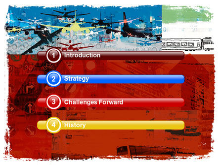 Transportation Collage PowerPoint Template, Slide 3, 05576, Cars and Transportation — PoweredTemplate.com