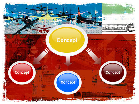 Transportation Collage PowerPoint Template, Slide 4, 05576, Cars and Transportation — PoweredTemplate.com