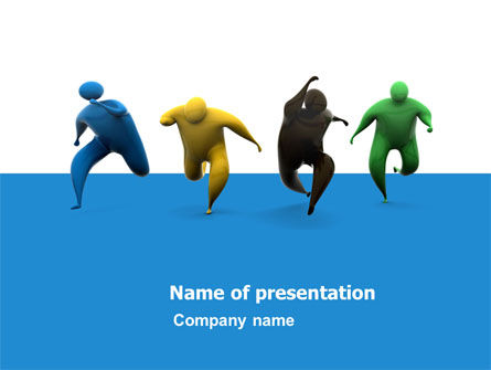 Competitors PowerPoint Template, 05577, Consulting — PoweredTemplate.com