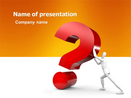 Question PowerPoint Template, 05578, Consulting — PoweredTemplate.com