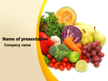 Agriculture: Fruits and Vegetables PowerPoint Template #05579