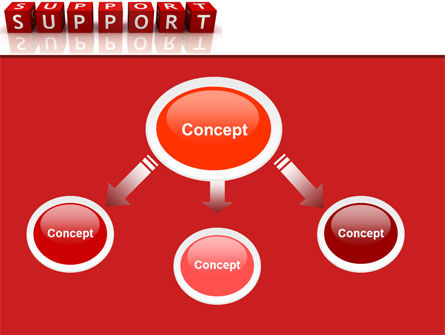 Support PowerPoint Template, Slide 4, 05580, Careers/Industry — PoweredTemplate.com