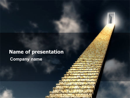 Business Concepts: Stairway To Heaven PowerPoint Template #05581